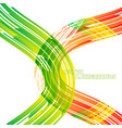 abstract colors curved motion on a white vector image vector image