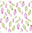 abstract floral semaless pattern with petals vector image