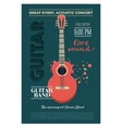 Acoustic guitar concert flyer template Retro vector image
