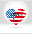 american flag in the form of heart on a white vector image