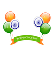 Balloons in Traditional Tricolor of Indian Flag vector image