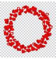 big ring made small hearts vector image
