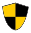 black and yellow shield vector image
