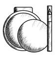 blush and eyebrow pencil make up drawing icon vector image