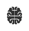 brain icon flat isolated on white background vector image