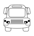bus public transport city front view outline vector image vector image