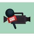 camera microphone equipment news job graphic vector image