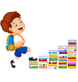 Child climbing stairs vector image vector image