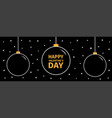 christmas ball icon set doodle white line hanging vector image