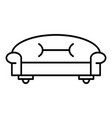 classic sofa icon outline style vector image vector image