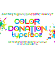 color donation typeface 01 vector image vector image