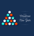 creative medical xmas tree made white bauble vector image vector image