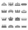 crowns coronets diadems king czar black vector image