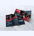 dance academy tri-fold brochure design vector image vector image