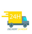 delivery 24 hour truck background image vector image vector image