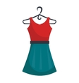 Fashion woman dress isolated icon vector image