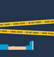 flat style crime scene with corpse vector image