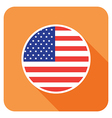 flat usa icon vector image