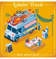 Food Truck 03 Vehicle Isometric vector image vector image