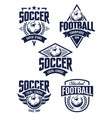 football emblems vector image vector image