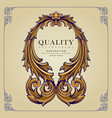 frame quality ornaments elegant isolated vector image vector image