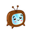funny retro tv set cartoon character vector image vector image