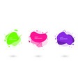 futuristic trendy abstract liquid set flat vector image vector image