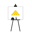 gold bars on canvas yellow vector image vector image