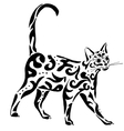 graceful Egyptian cat vector image vector image