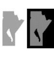 halftone manitoba province map vector image vector image