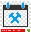 Hammers Calendar Day Eps Icon vector image vector image