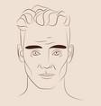 hand drawn portrait handsome man vector image