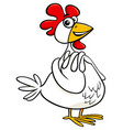 hen farm animal character cartoon vector image