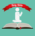 holy bible design vector image vector image