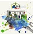 Home Office Interior Sketch vector image vector image
