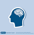 Icon head with brain Mind and science vector image