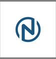 initials n circle logo template letter n circle vector image vector image