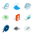 instant icons set isometric style vector image vector image