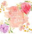 invitation card with watercolor flowers for your vector image vector image