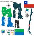 Map of Los Lagos vector image vector image