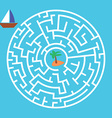 Maze Game Boat Is Looking For Island vector image