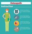 medical equipment instruction for osteopath vector image vector image