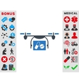 Medical Quadcopter Icon vector image vector image