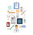 medical services infographics vector image