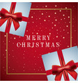 merry christmas card greeting decoration gifts vector image vector image