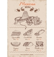 Mexican Hand Drawn Menu vector image vector image