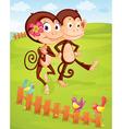 Monkey couple vector image vector image