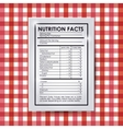 nutrition facts design vector image