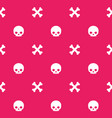 pattern with skull and bones seamless background vector image vector image