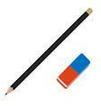 Pencil and eraser vector image vector image